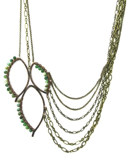 Three Leaf Chain Necklace