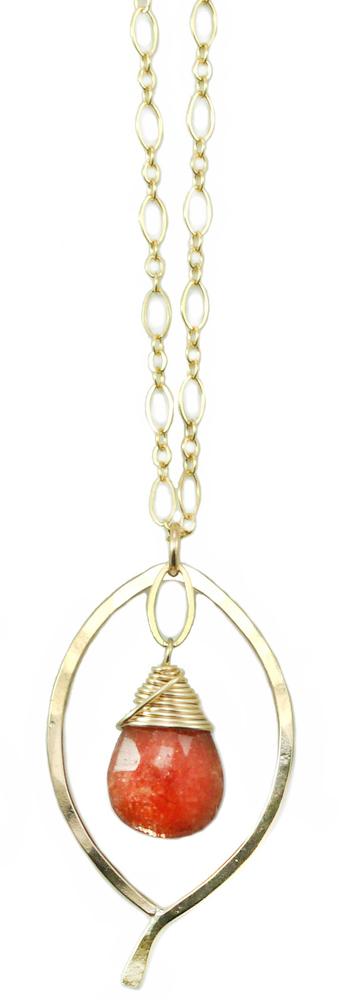 Leaf Drop Necklace - YGF