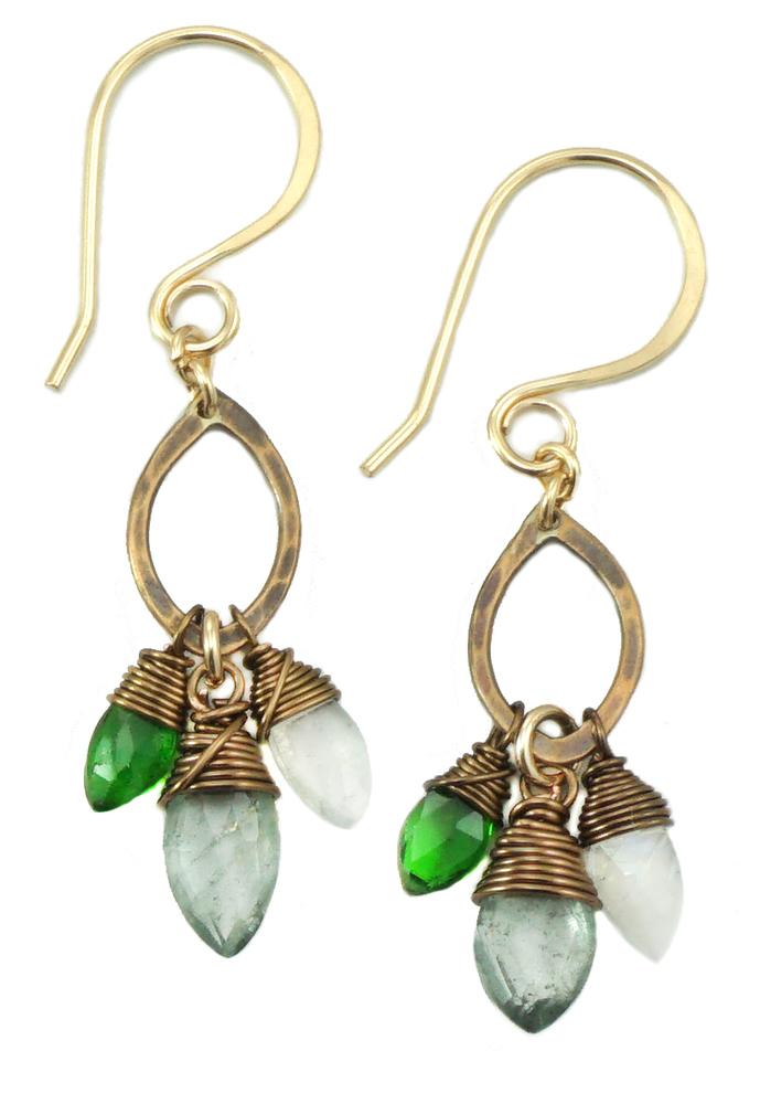 Drop Marquise Earring - Bronze