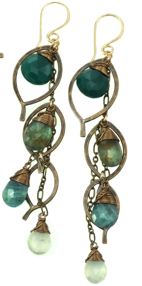 Chandelier Earring Large - Bronze