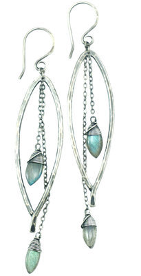 Bay Leaf Dangle Earring MED