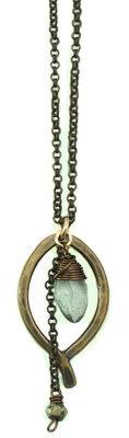 Mini Leaf Marquise Necklace