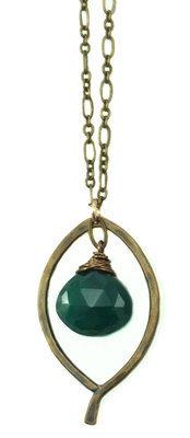 Leaf Drop Necklace