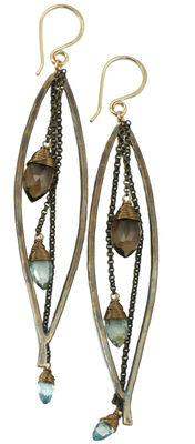 Bay Leaf Dangle Earring LG
