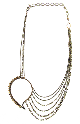 Paisley Chain Necklace - Bronze