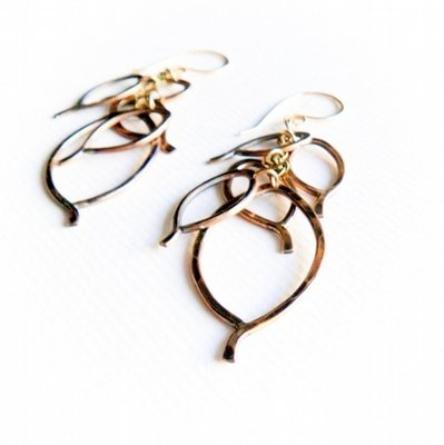 Leaf Cluster Earrings - 14K Gold Fill