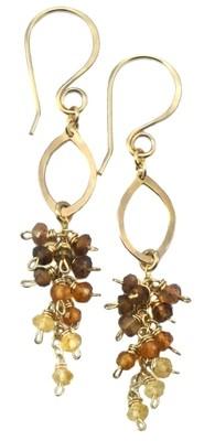 Drop Cluster Earrings - 14K Gold Fill