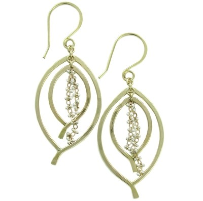 Double Leaf Earring Small