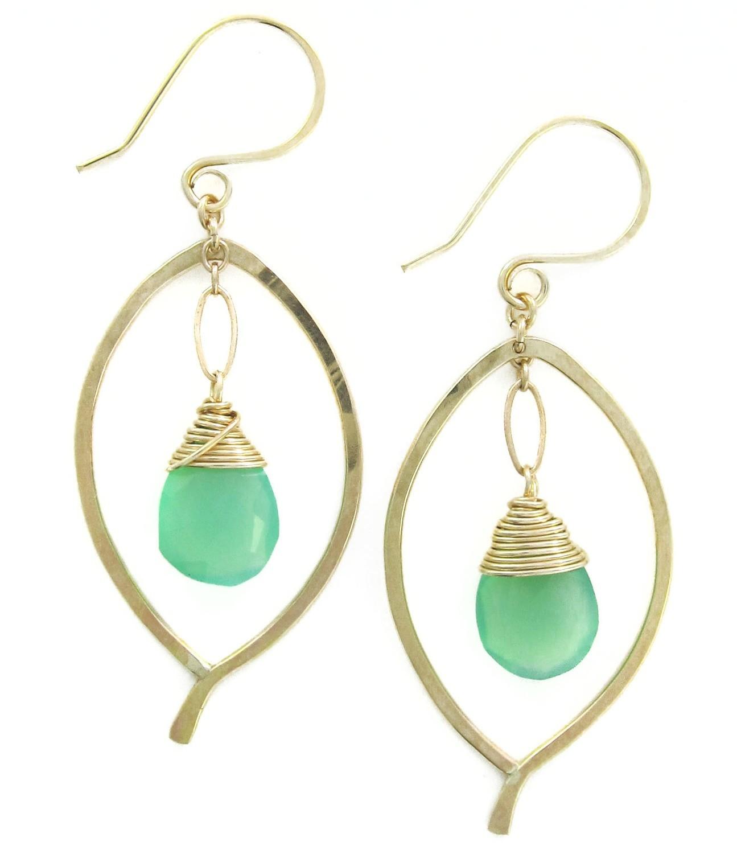 Leaf Drop Earring- 14k Gold Fill