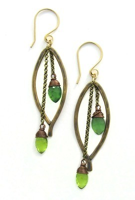Bay Leaf Dangle SMALL Earring