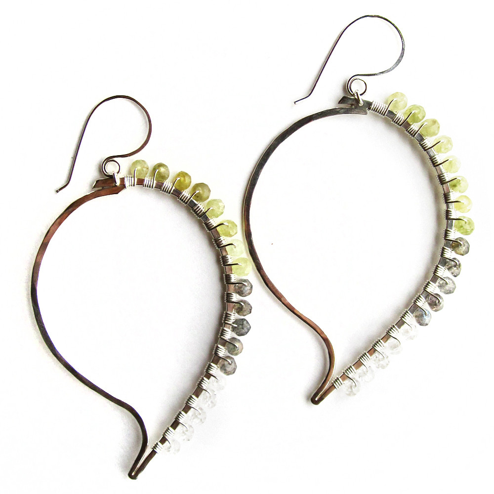 Paisley Earrings - Silver