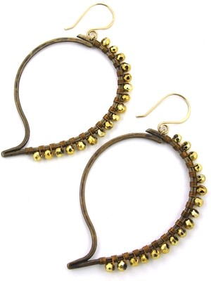 Paisley Earrings - Bronze