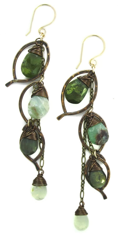 Chandelier Earring Large - Bronze