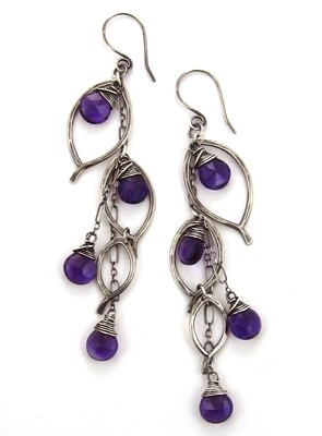 Chandelier Earring Large - Silver