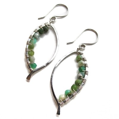 Bay Leaf Earring Wrapped Small