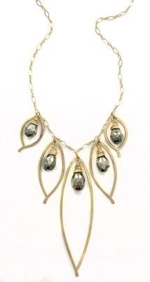 Bay Leaf Cluster Necklace