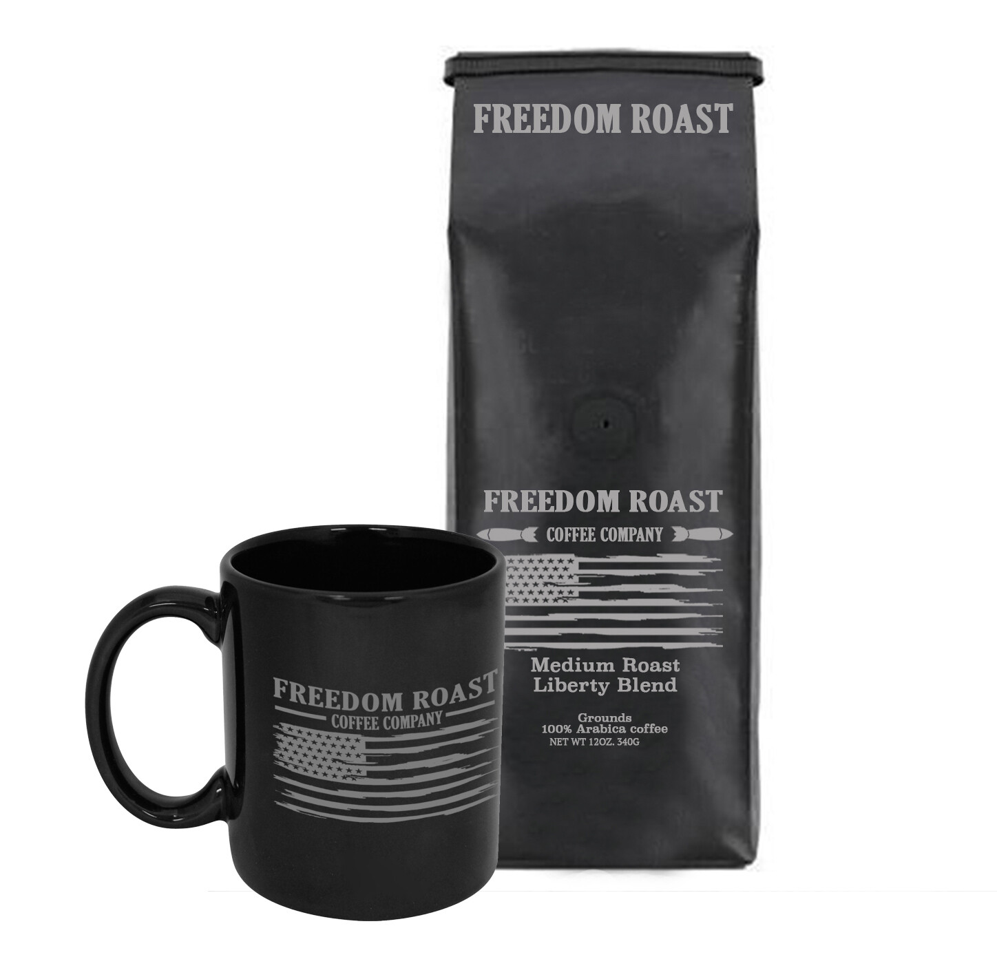 Freedom Roast 12oz. Bag of Medium Liberty Blend & Liberty Flag Coffee Mug