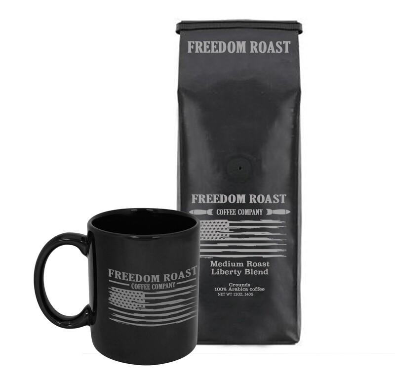 Freedom Roast 12oz. Bag of Medium Liberty Blend & Liberty Flag Coffee Mug