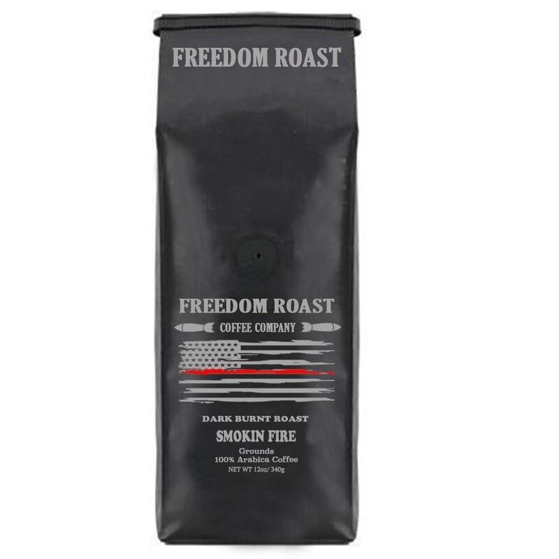 Freedom Roast Red Line Smokin Fire 12oz Ground Coffee