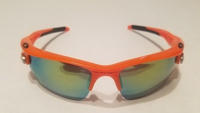 Sport Style Sunglasses :: Orange Frames w/ Black Earpiece & Removable Lenses