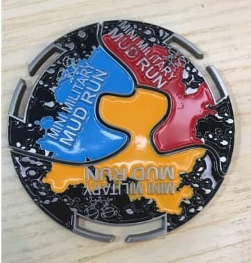Adult medals for Mini Mud Run events in 2019