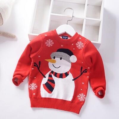 Christmas children snow man sweater 100(2-3years)
