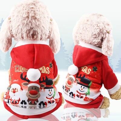 Christmas Pet Cloth Jacket Coat