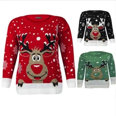 Christmas Women Sweater Green XL
