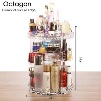 360 Degree Rotating Cosmetic Storage Box Makeup Organizer Cosmetics Storage