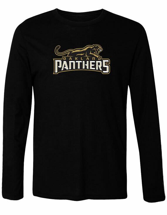 Oakland Panthers Logo Long Sleeve T-Shirt
