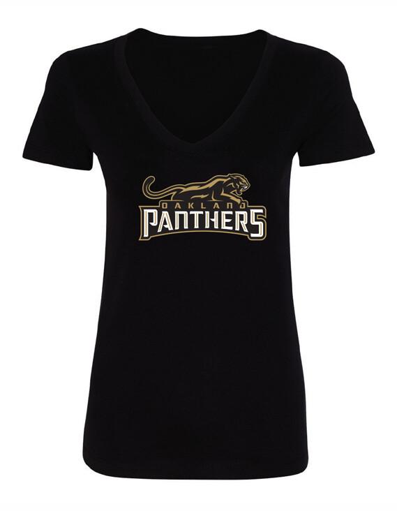 Women's Oakland Panthers Logo T-Shirt