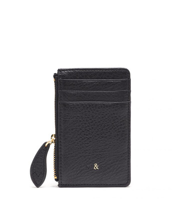 Bell & Fox LIA Credit Card Purse Black Leather