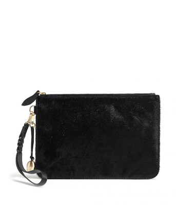 Bell & Fox MILA Wristlet Clutch Black Pony