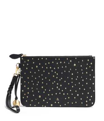 Bell & Fox MILA Wristlet Clutch Gold Embroidery