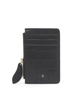 Bell & Fox LIA credit Card Purse - Croc Black