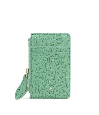 Bell & Fox LIA credit Card Purse - Croc Mint