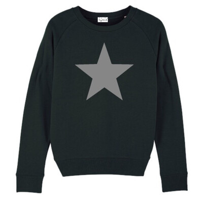 Star Sweatshirt - Black