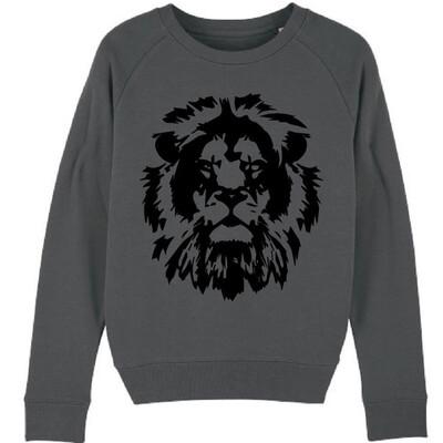 Black Lion Sweatshirt -  Charcoal