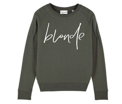 Lucy Dodwell Blonde Sweatshirt - Khaki