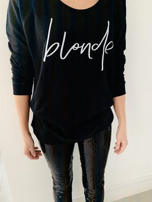 Lucy Dodwell Blonde Sweatshirt - Black / Navy