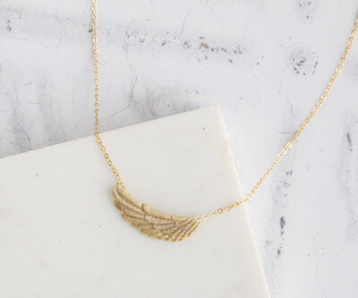 """Claire Hill Angel Wing Gold Charm Necklace 16"""""""