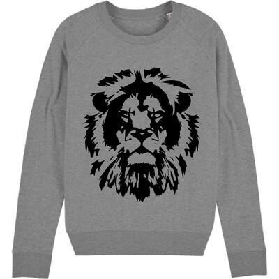 Black Lion Sweatshirt - Mid Grey