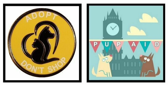 ADOPT DON'T SHOP' ENAMEL PIN BADGES. #LUCYSLAW #ADOPTDONTSHOP