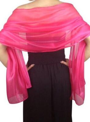 Stola / Schultertuch pink glanz