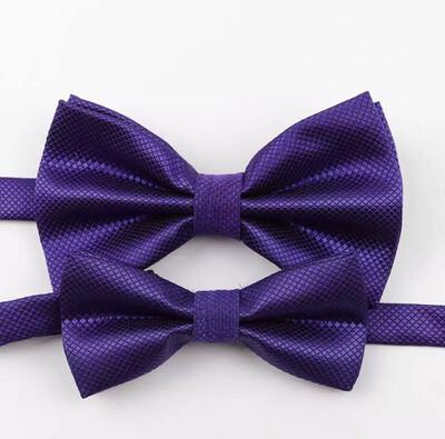 Fliege Set Erwachsener und Kind violett
