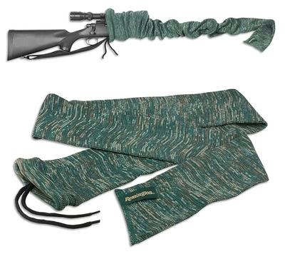 Чехол-носок для ружья из синтетического материала (смесь силикона и полиэстра). Цвет серо-зелёный Allen. Длина 132,08 см.