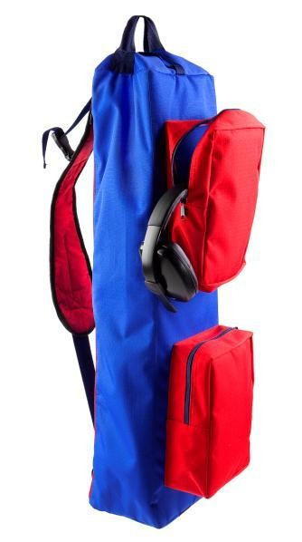 """Сумка-рюкзак для скрытого ношения оружия """"Гольфист"""" цвет сине-красный."""