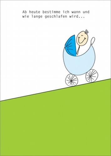 Lustige Gratulationskarte Mit Kinderwagen Und Spruch Zur Geburt Eines Kleinen Jungens Artnr Fb000120609