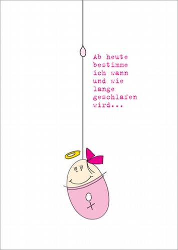 Lustige Rosa Gratulationskarte Zur Geburt Eines Mädchens Mit Heiligenschein Baby Spruch Artnr Fb000120626
