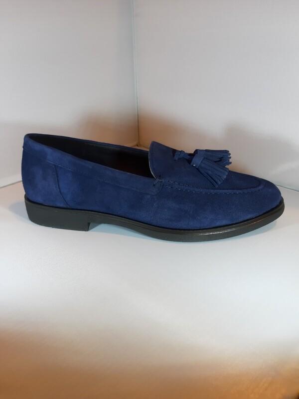 EXIT | Mocassin blauw plat